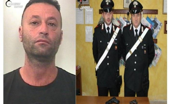 Marsala: I Carabinieri arrestano un pregiudicato mazarese armato di due pistole