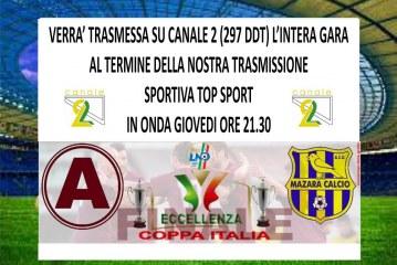 Giovedi sera trasmetteremo la finale di Coppa Italia d'Eccellenza