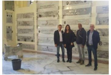 Per l'imminente Festa della Liberazione sopralluogo del presidente Sturiano nell'area cimiteriale dei Caduti