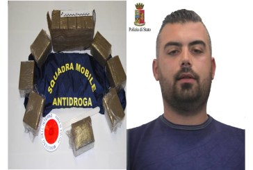 La Squadra Mobile di Trapani arresta incensurato con 12 kg di hashish