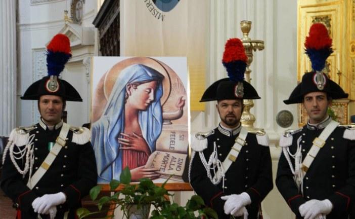 Oggi alle ore 11:00, si è celebrata, presso la chiesa madre di Trapani, la messa in onore della Virgo Fidelis, Patrona dei Carabinieri. La data del 21 Novembre rappresenta un momento importante per l'Arma dei Carabinieri. Si celebrano, infatti,  tre ricorrenze particolarmente significative, tramandate nella storia e nei contenuti spirituali dell'istituzione.