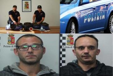 La Polizia di Stato arresta ADAMO Luigi e CERVELLIONE Nicola per detenzione ai fini di spaccio di sostanza stupefacente.