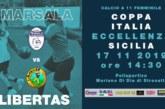 CFMARSALA: SI RICOMINCIA CON LA COPPA ITALIA